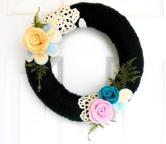 wreath with doilies