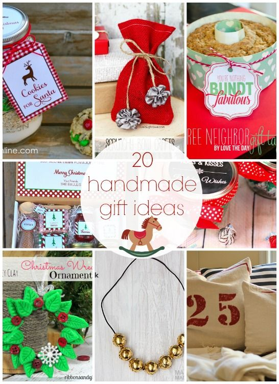 20 Handmade Gift Ideas {Link Party Features} I Heart Nap Time