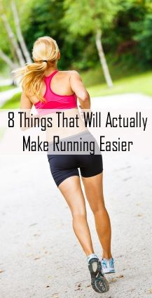 For your health ~ 8 things that actually make running easier ~ sharing homemade experiences ~ {10 things skinny people do and 1 thing to lose 10 pounds, etc...}  young woman running