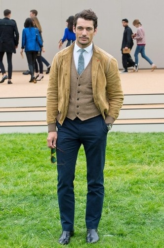 David Gandy at Burberry Prorsum Menswear SS 2014 collection