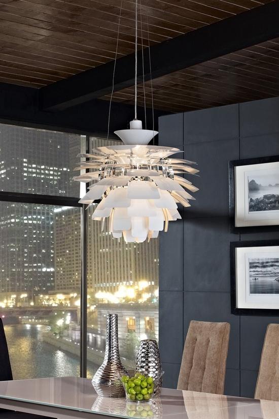 24 Petal Lamp - White