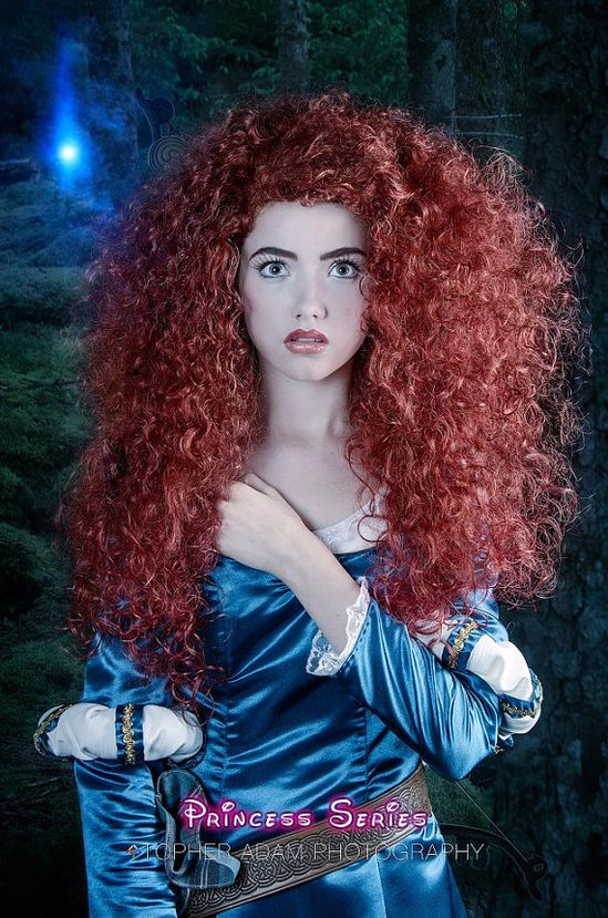 Merida Version A Brave Inspired Costume Wig Adult by Bbeauty79, $199.95
