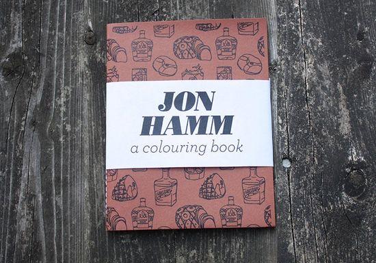 Jon Hamm - A Colouring Book. $9.00, via Etsy.