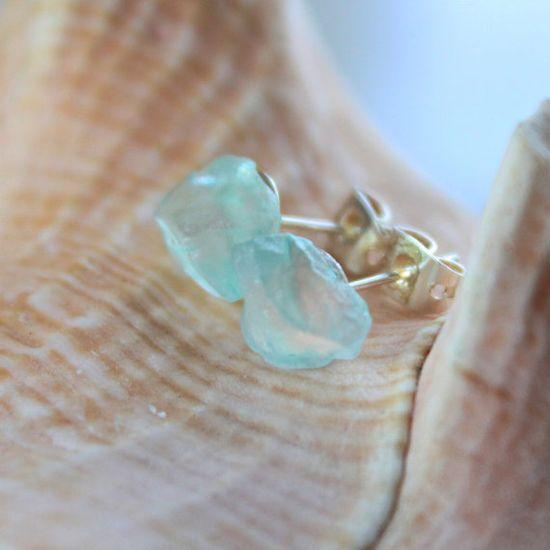 sea glass earrings #etsy #jewelry #blue #ocean #beach    So lovely!!!!
