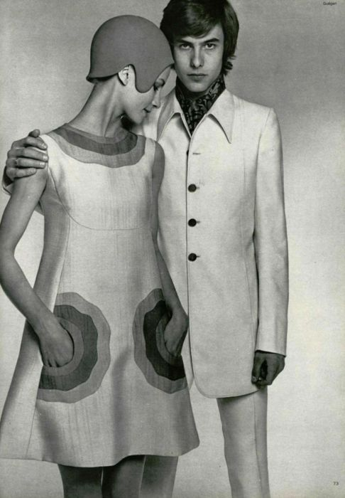 Late #1960s, early #1970s. Love the pockets on this dress!