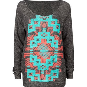 big comfy sweater+ tribal print... LOVE