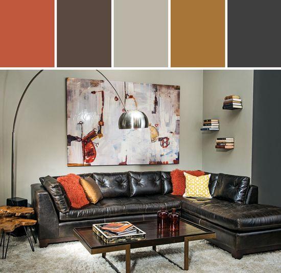 Urban Inspiration Living Room Designed By High Fashion Home via Stylyze