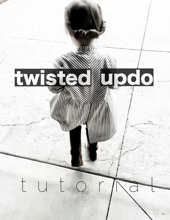 Hair DIY: Twisted Updo on your kids