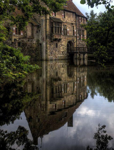 River Castle, North Rhine Westphalia, Germany        photo via night