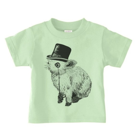 Fancy rabbit. #kids #shirt #rabbit #monocle