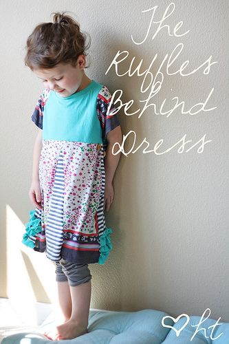 ruffles behind the dress..sewing tutorial