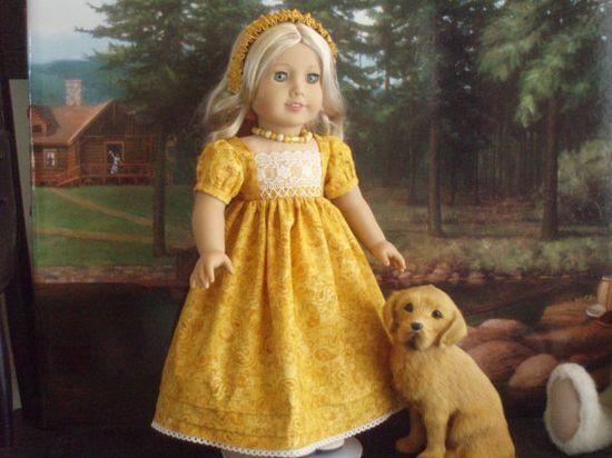 1812's Fall Regency Dress for Caroline Abbott  by VictoreeannaCreation, $30.00
