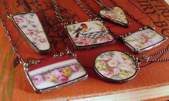 make broken china jewelry.