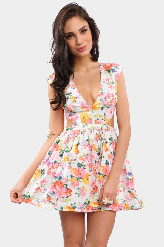 White Flower Dress $24.99
