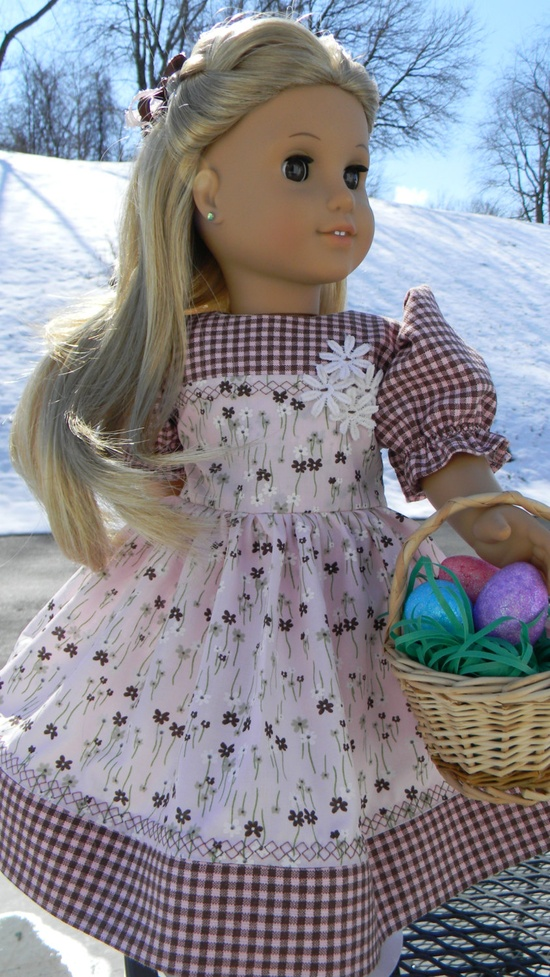 Easter Dress with Basket and Hair bow 1940's Dirndl. via Etsy.