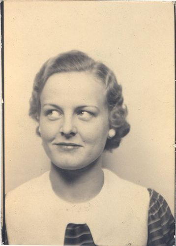 ** Vintage Photo Booth Picture **  That sideways glancing look #Cute pet #pet girl