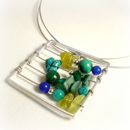 "Abacus Necklace. Cute idea. Could be another ""stress"" piece of jewelry."