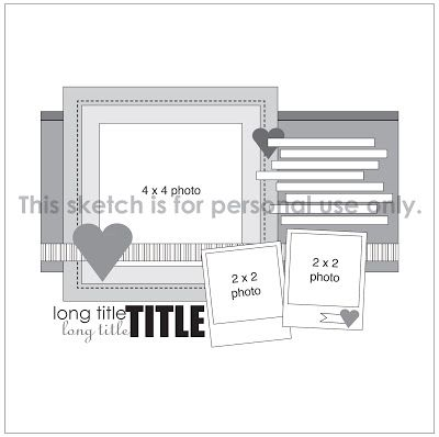 1 photo Sketch Week Layout Reveal with a little My Minds Eye Cut and Paste