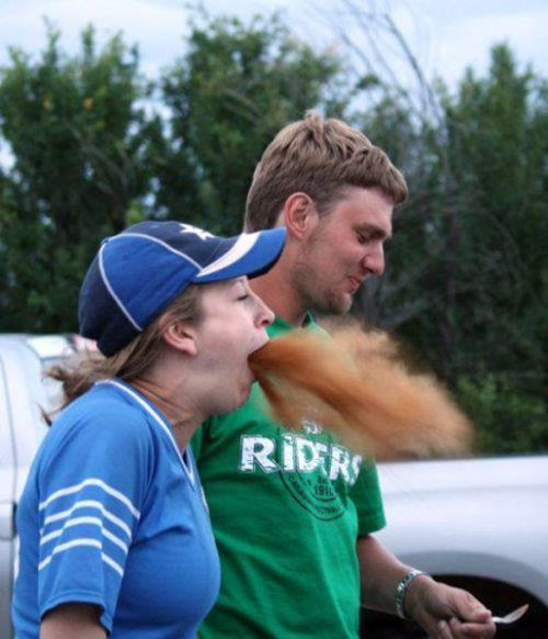 Cinnamon Challenge Attempt - Perfectly Timed Photos