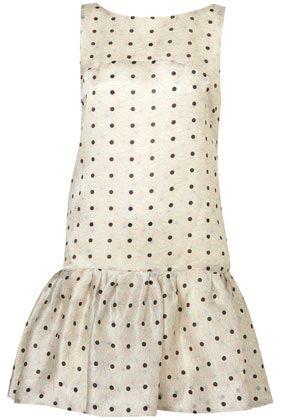 drop-waist polka-dot dress