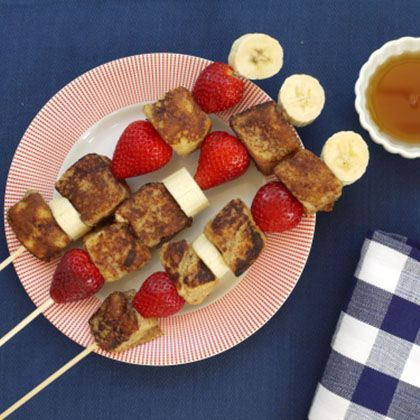 Cute and easy! French Toast on a Stick