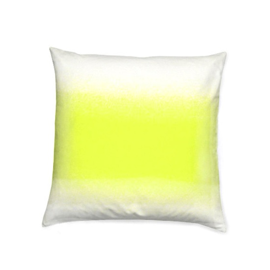 Ombre Neon Yellow Decorative Pillow for Home Decor or Unique Gift. $35.00 USD, via Etsy.