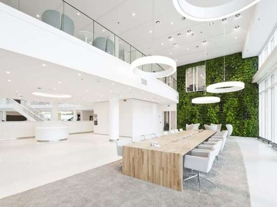 Long tables.  The Office Interior by Hofman Dujardin Architects is Eco-Friendly #ecofriendly #homedecor trendhunter.com