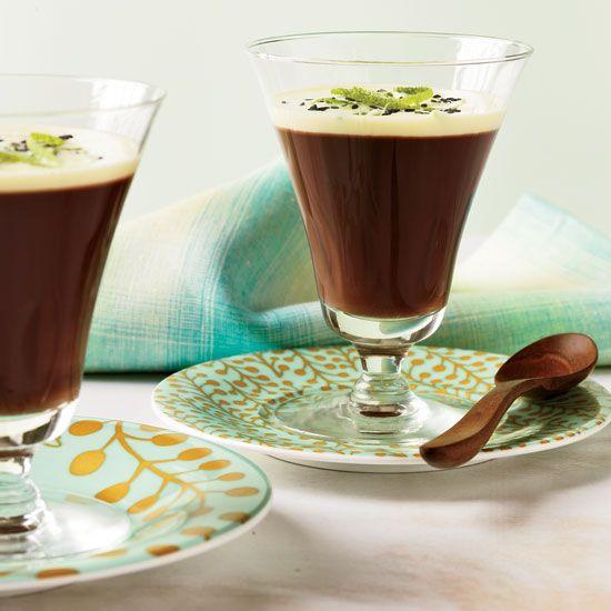Milk Chocolate Crémeux with Sesame Crème Anglaise // More Delicious Milk Chocolate Recipes: www.foodandwine.c... #foodandwine