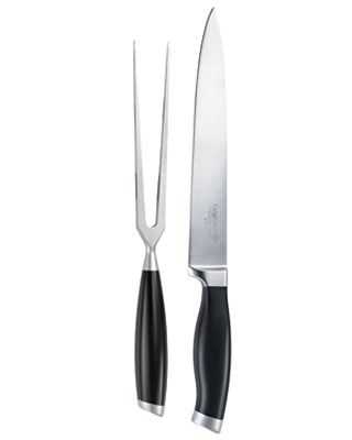 The comfortable grip and long thin blade of this set mean neat slices of turkey every time. $45. #cooking #tools