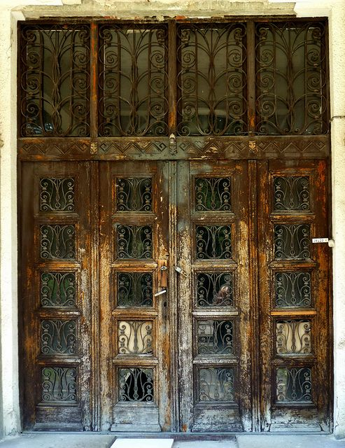 Art Nouveau door in decay