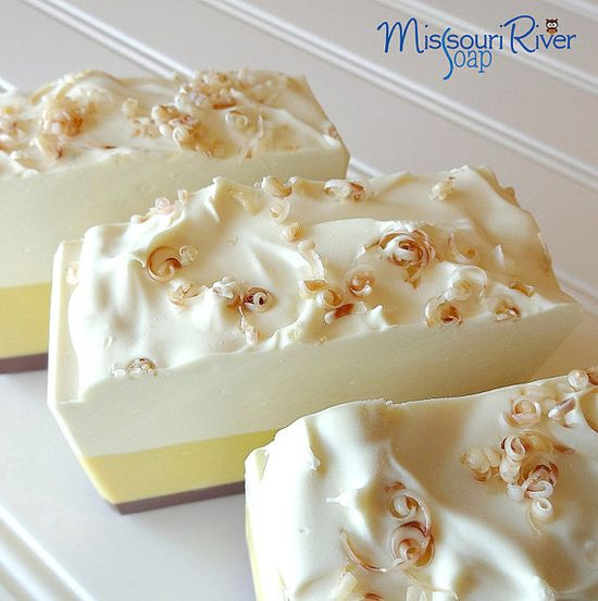 Coconut Pear Cold Process Handmade Soap from Missouri River Soap.  These look good enough to eat!