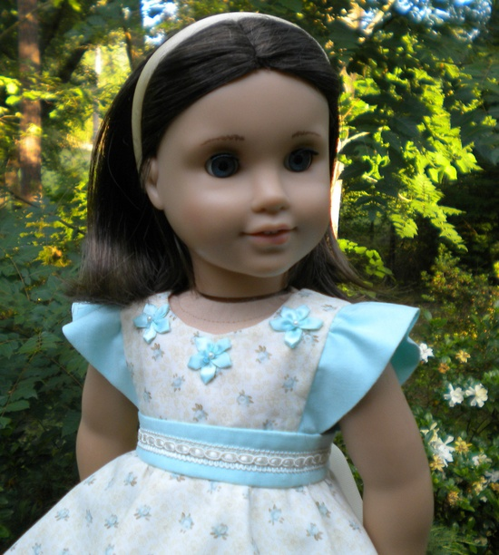 Darling! Aqua sundress for American Girl or other 18 by mydollyscloset1, via Etsy.