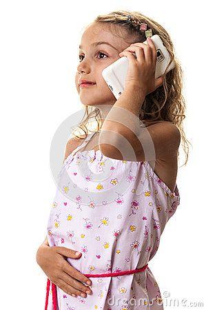 #mobile #smart #phone #smiling #little #girl #child