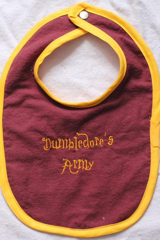 Harry Potter Baby Dumbledore's Army Bib by geekbabystitching, $10.00