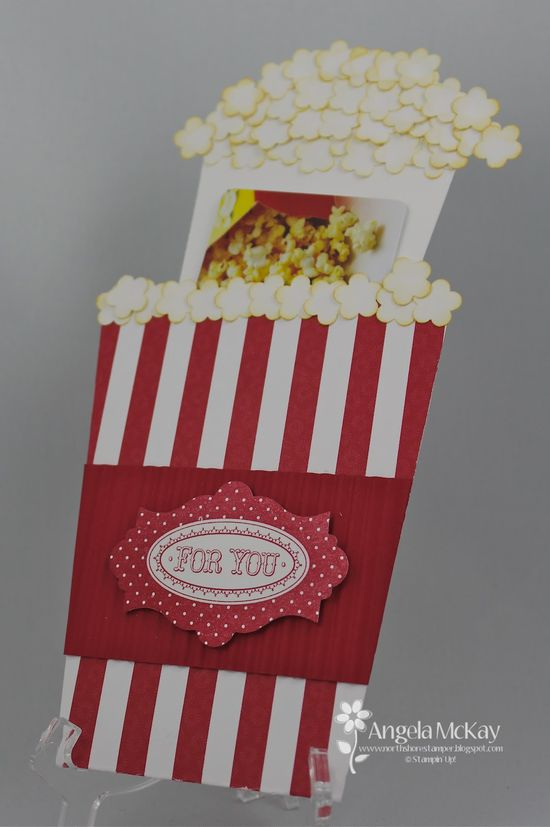 Theater popcorn card