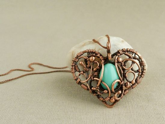 Wire Pendant Necklace