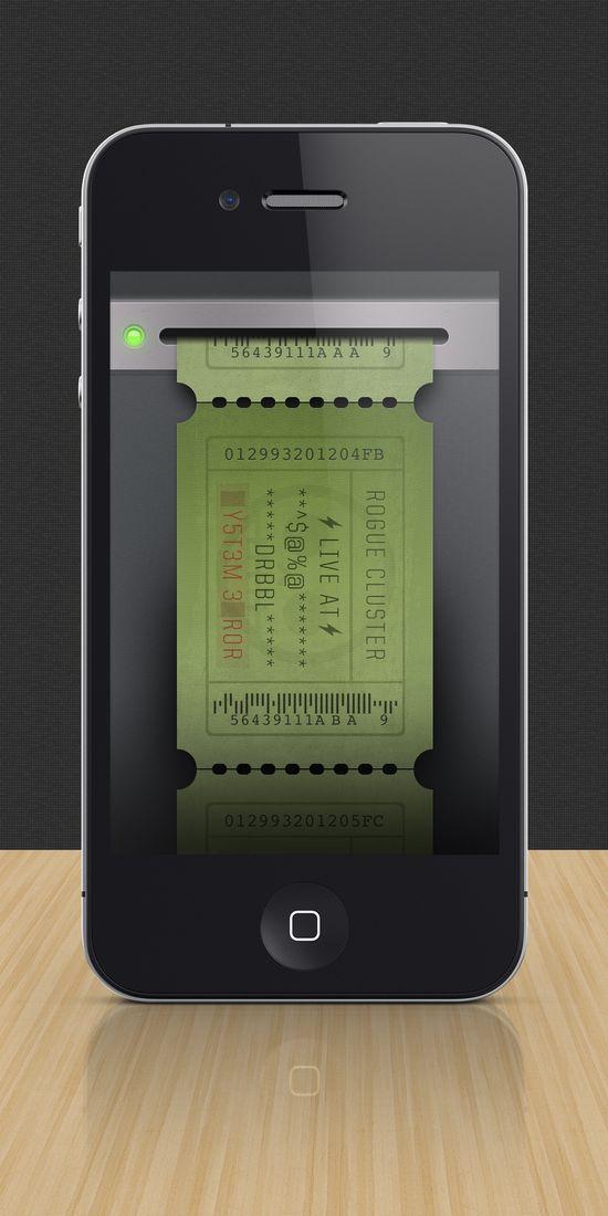 iPhone Ticket #ui #mobile #design