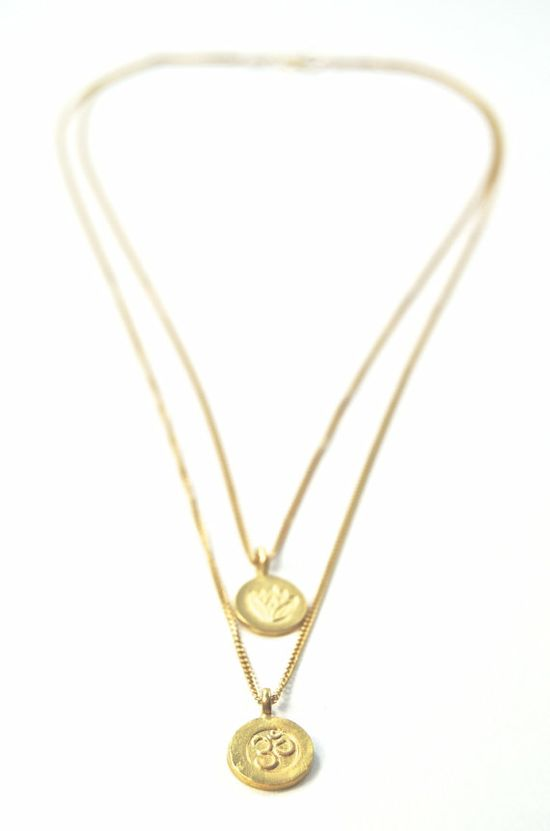 Mohala necklace  a gold layered necklace double by kealohajewelry