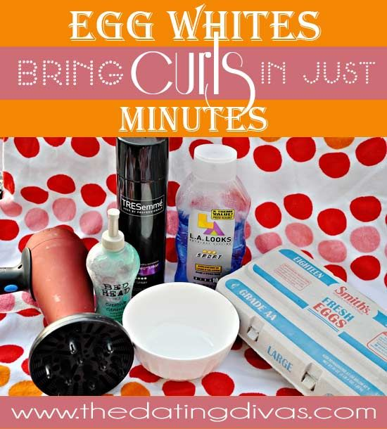 Use Egg Whites to bring a new look to your hair in under 30 minutes. www.TheDatingDiva... #lookinggoodforyourspouse #eggwhites #curls
