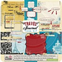 travel journal digi kit by @Rhonna Farrer - i still use this a LOT.