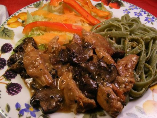 Crock Pot Chicken Marsala, slow cooked and easy.