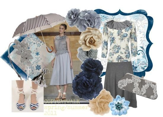 """Coloring: Soft Summer, Clothing Style: Ingenue, Fashion Season: Spring/Summer 2011"" by copycatwalk"