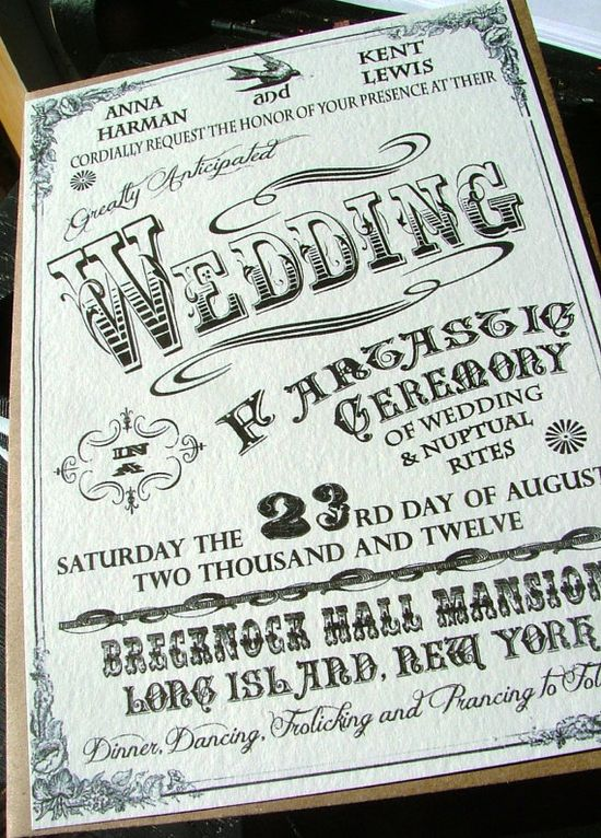 Vintage Circus Wedding Invitations from sweetcookie