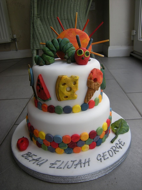 The Very Hungry Caterpillar Cake by Rachel's Cakes, via Flickr