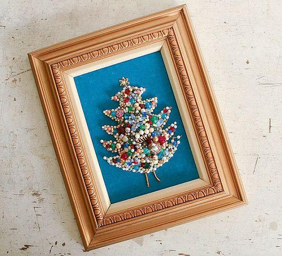 Vintage Christmas Jewelry Tree - Handmade !!! So cool!!