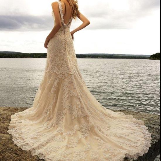 Back of wedding dress I love