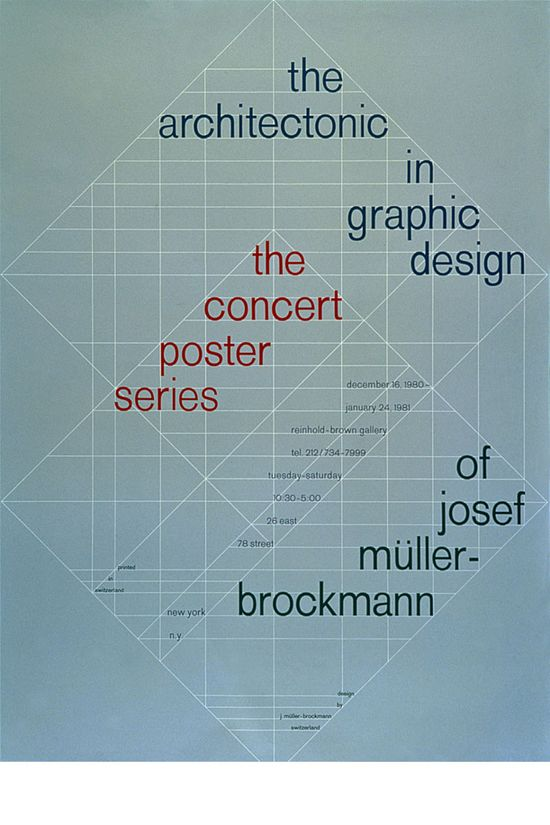 Josef Müller-Brockmann, The Architectonic in Graphic Design