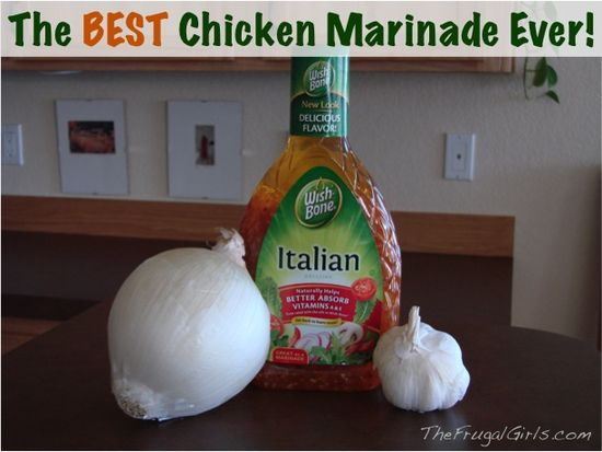 The BEST Chicken Marinade Ever! {it's the secret to tasty, moist chicken} #chicken #recipes