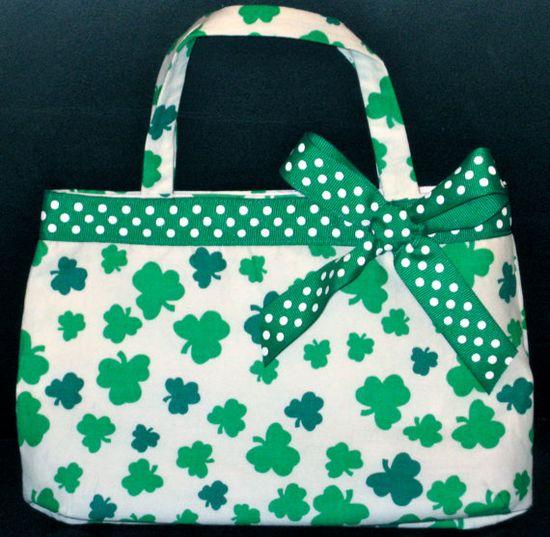 Luck O' The Irish St. Patrick's Day Shamrock Girl's Handbag, Purse on Etsy, $20.00