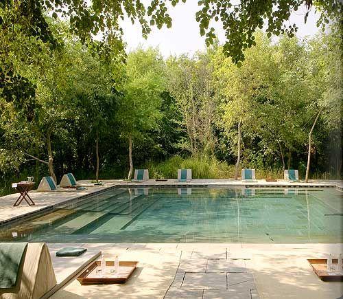 aman resort, patio, pool